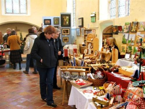 A craft fair underway in St Lawrence's