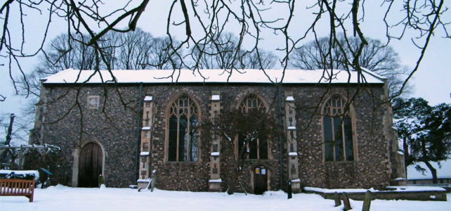 St Lawrence Centre in the snow