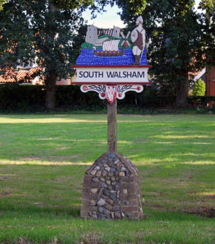 The village sign of South Walsham