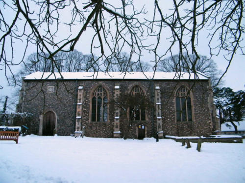St Lawrence Centre outside in snow